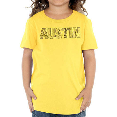 Austin  // 0440 Yellow // Austin Zentangle Tee