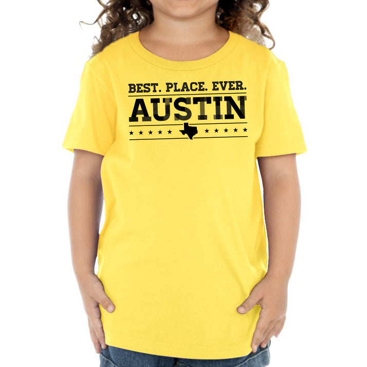 Austin: Best. Place. Ever  // 0440 Yellow // Austin Texas Shirt