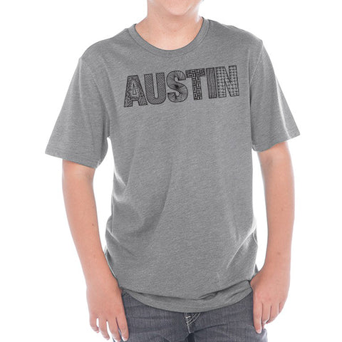 Austin  // 0495 Grey // Austin Zentangle Tee