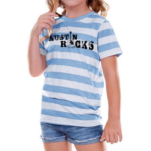 Austin Rocks // 0605 Azure Stripe // Austin Music Shirt