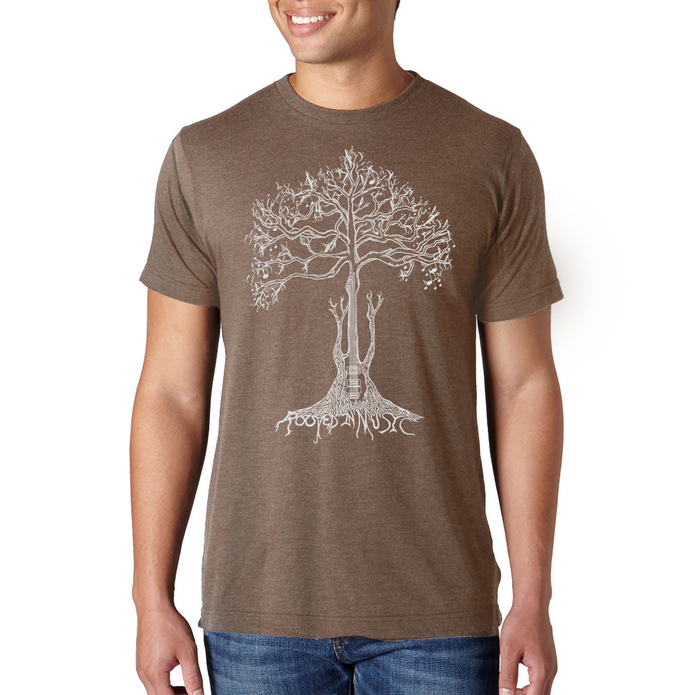ROOTED IN MUSIC // Style 254 Mocha// Music Lover Tee Shirt