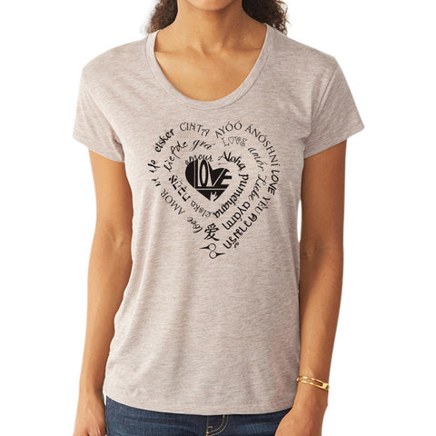 LOVE // Style 2620 Dirty Heather // Multi-Language Tee