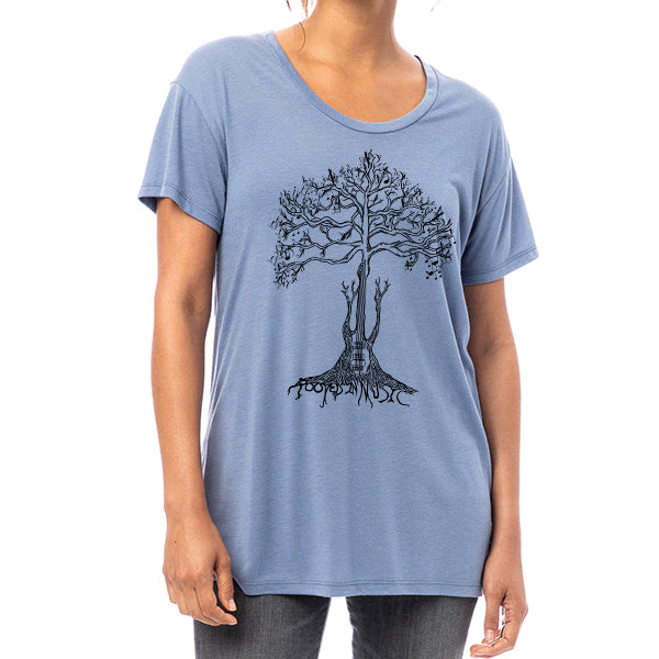 ROOTED IN MUSIC // Style 2620 Stone Wash Blue // Music Lover Tee Shirt