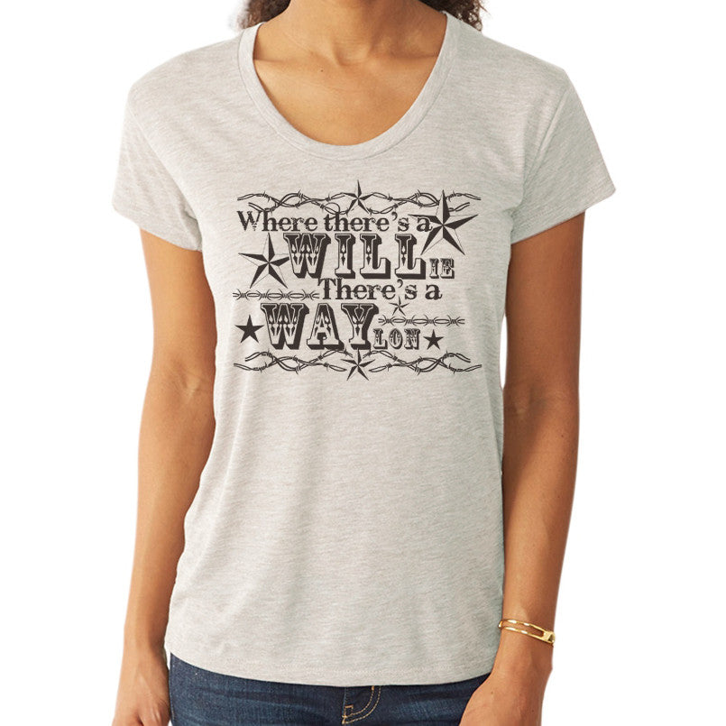 Where Theres a WILLie Theres a WAYlon // Style 2620 Oatmeal // / Willie Nelson & Waylon Jennings Country Music Shirt