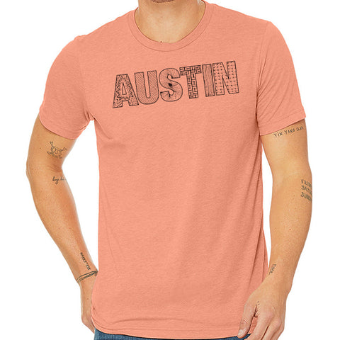 Austin // Style 3413 Sunset // Austin Zentangle Tee