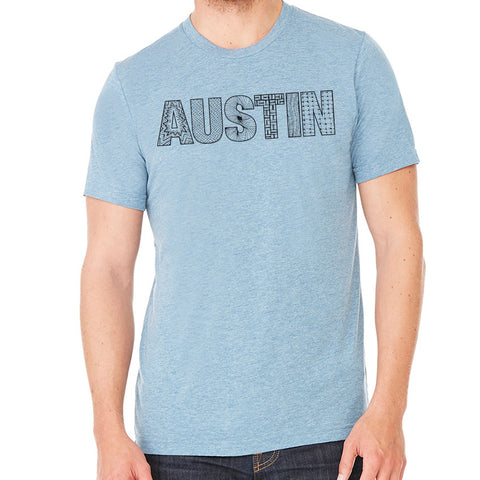 Austin // Style 3413 Denim  // Austin Zentangle Tee