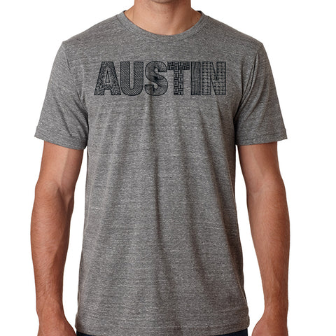 Austin // Style 3413 Grey // Austin Zentangle Tee