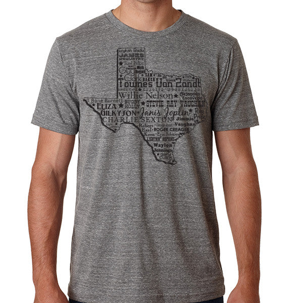 Music Heart of Texas // Style 3413 Grey // Texas Music Shirt