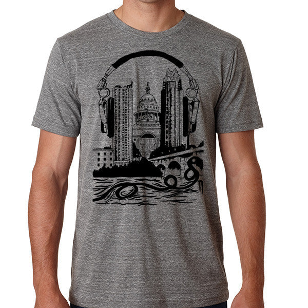 Plugged In // Style 3413 Grey // Original Austin City Music Shirt