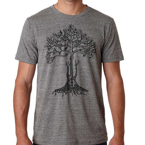 ROOTED IN MUSIC // Style 3413 Grey // Music Lover Tee Shirt