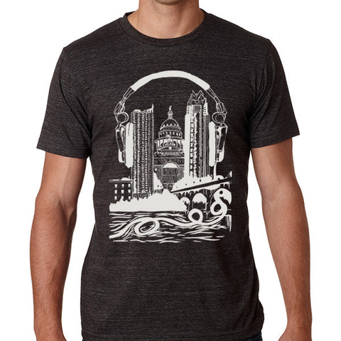 Plugged IN // Style 3413 Charcoal // Original Austin City Music Shirt