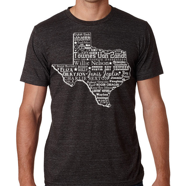 Music Heart of Texas // Style 3413 Charcoal // Texas Music Shirt