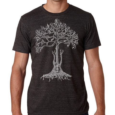 ROOTED IN MUSIC // Style 3413  Charcoal // Music Lover Tee Shirt