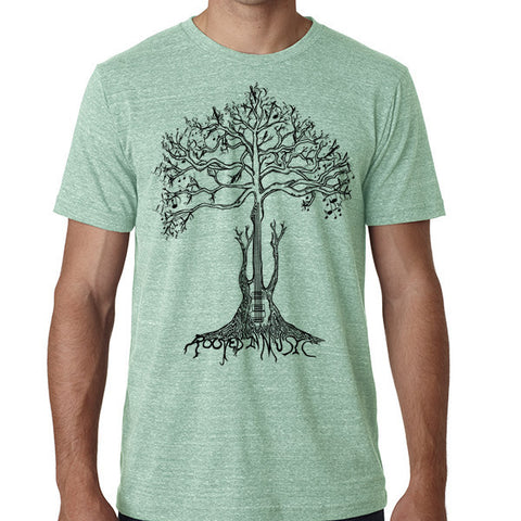 Rooted in Music // Style 3413 Green  // Music Lover Shirt