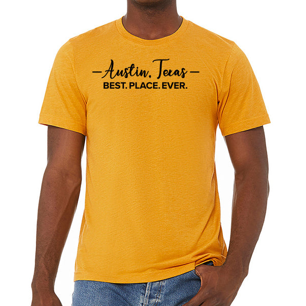 Austin = Best. Place. Ever  // Style 3413 Mustard // Austin Texas Shirt