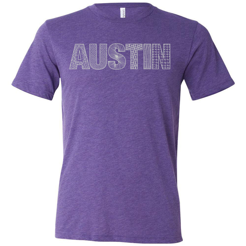 Austin // Style 3413 Purple // Austin Zentangle Tee - Unisex Fit