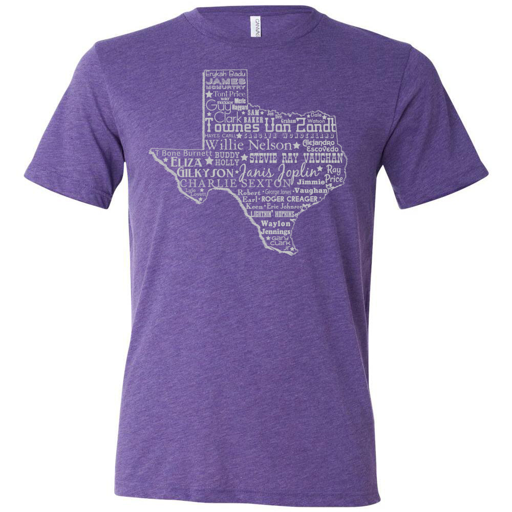 Music Heart of Texas // Style 3413 Purple // Texas Music Shirt - Unisex Fit