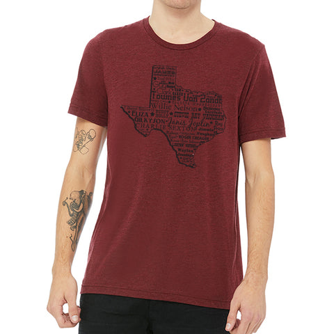 Music Heart of Texas // Style 3413 Red // Texas Music Shirt