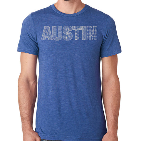 Austin // Style 3413 Royal // Austin Zentangle Tee