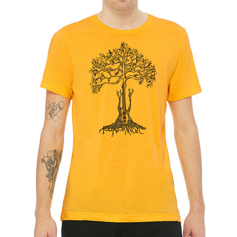 Rooted In Music // Style 3413 Yellow Gold // Music Lover Tee