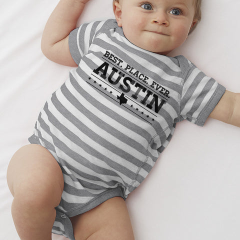 Austin = Best. Place. Ever  // Style 4400 Grey Stripe // Austin Texas Shirt ONLY 2 LEFT!!!