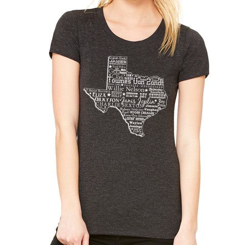 Music Heart of Texas // Style 8413 Charcoal // Texas Music Shirt