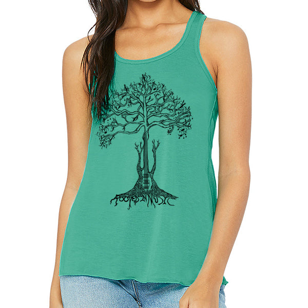 ROOTED IN MUSIC // Style 8800 Teal // Music Lover Tee Shirt