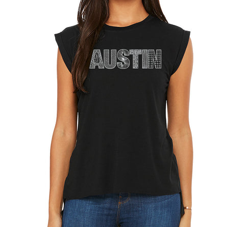 Austin  // Style 8804 Black // Austin Zentangle Tee