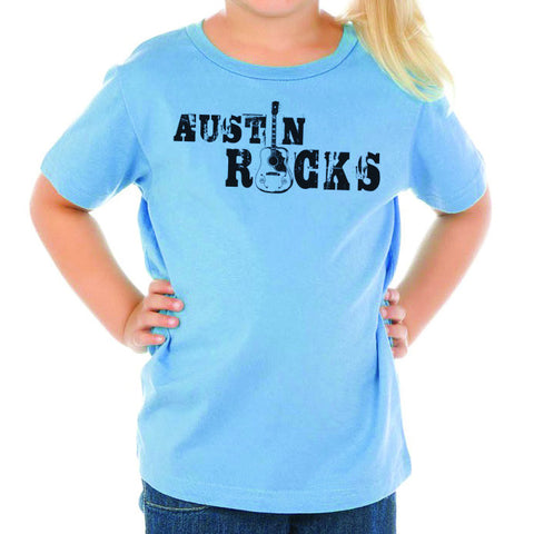 Austin Rocks // 0494 Blue // Austin Music Shirt