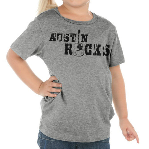 Austin Rocks // 0494 Grey // Austin Music Shirt