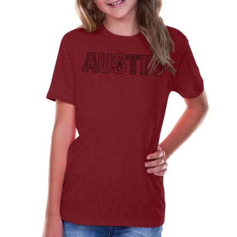 Austin // 0495 Wine // Austin Zentangle Tee