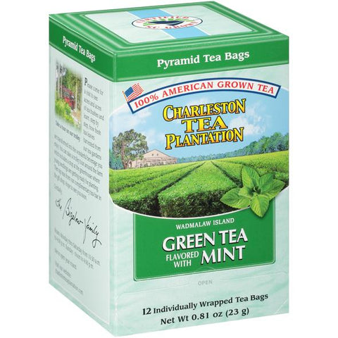 American Classic Tea Charleston Island Green Mint Flavored Tea 12 Tea Bag Servings