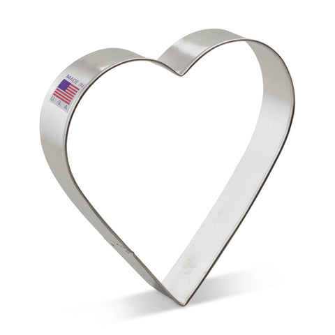 "Extra Large 5"" Heart Cookie Cutter Made from USA Tin Plated Steel By Ann Clark"