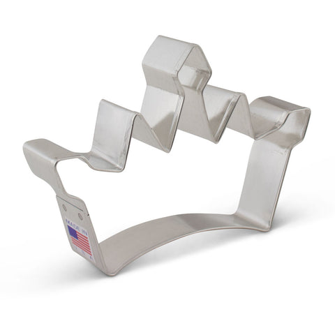 Princess Tiara Crown Cookie Cutter Made from USA Tin Plated Steel By Ann Clark