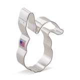"Easter Bunny Rabbit Face 4 1/4"" Cookie Cutter Made from USA Tin Plated Steel By Ann Clark"