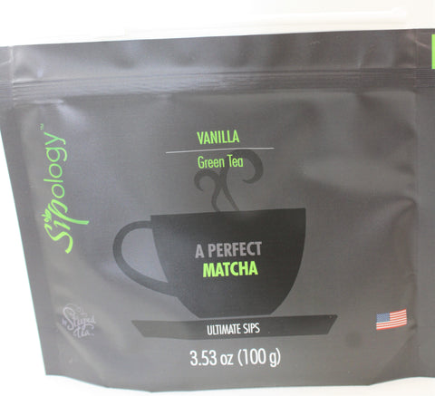 Sipology by Steeped Tea - Green Tea - MATCHA- Vanilla Matcha 3.53oz.