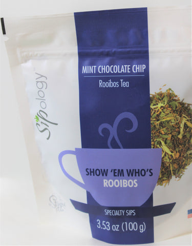 Sipology by Steeped Tea -Loose Leaf Rooibos Tea -Mint Chocolate Chip  3.53oz
