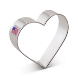 "Heart 3 3/8"" Cookie Cutter Made from USA Tin Plated Steel By Ann Clark"