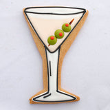 Martini Glass Cookie Cutter Made from USA Tin Plated Steel By Ann Clark