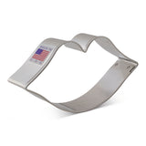 Large Kiss Lips Cookie Cutter Made from USA Tin Plated Steel By Ann Clark