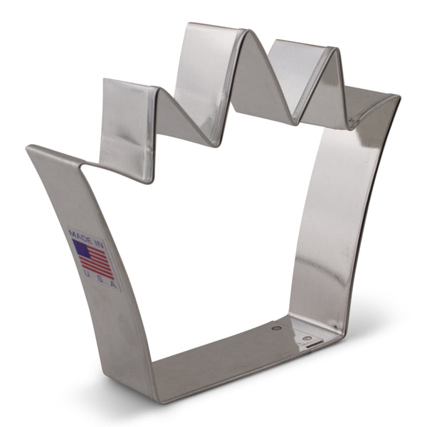 King Crown Cookie Cutter Made from USA Tin Plated Steel By Ann Clark