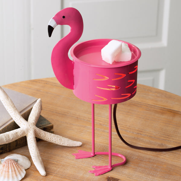 Adorable Cute Pink Flamingo Metal Tart Wax Potpourri Warmer