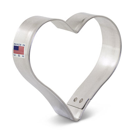 New Mini Heart Cookie Cutter Made from USA Tin Plated Steel By Ann Clark