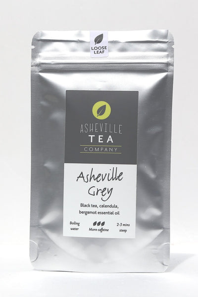 Asheville Tea 1oz. Loose-Leaf Black Tea -Asheville Grey Tea - Most Caffeine