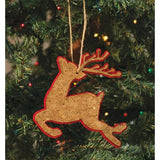 "Vintage Style 5"" Double Sided Corked Reindeer Christmas Tree Ornaments"