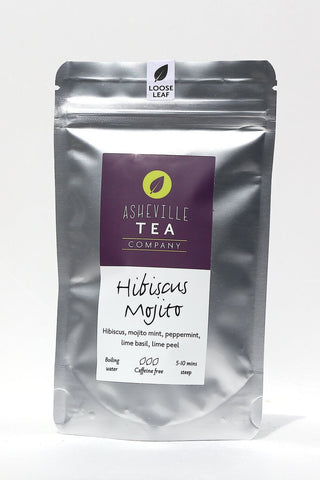 Asheville Tea 1oz. loose Leaf Herbal Tea -Hibiscus Mojito Tea Caffine Free