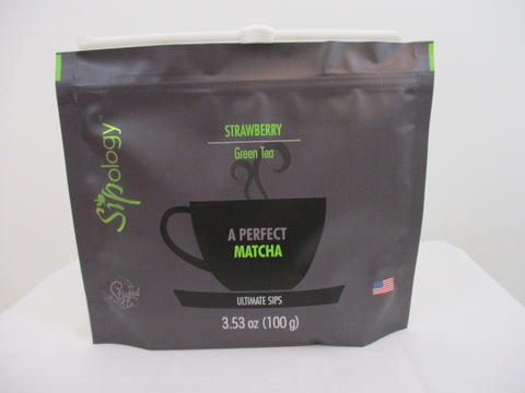 Sipology by Steeped Tea - Green Tea - MATCHA- Strawberry 3.53oz