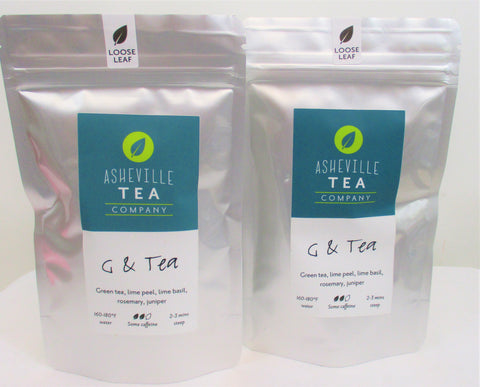 Asheville Tea 1oz. Loose-Leaf Green Tea - G & Tea Some Caffeine