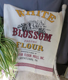 "Country"" WHITE BLOSSOM FLOUR""Advertisement Unbleached Flour Sack Tea Towel 100% Cotton"