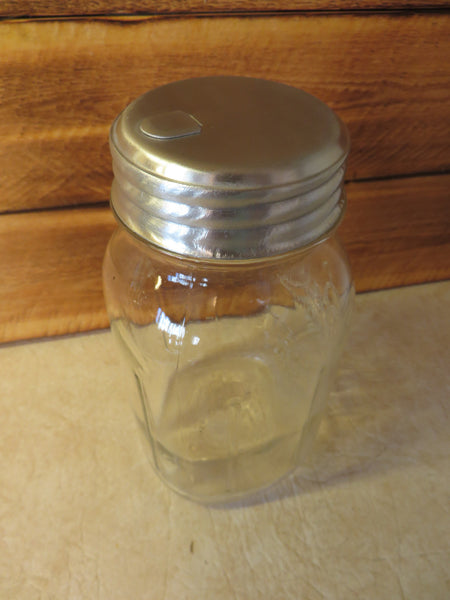 Mason Jar Sugar Dispenser Pour Lid, Salt, Spices, Aluminum Food Safe